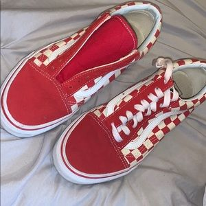Red Checker Vans